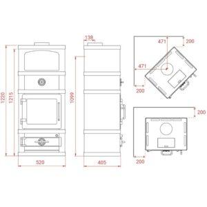 Lotus 2060 med kogesektion måltegning
