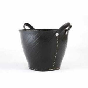 TermaTech brændespand i sort gummi