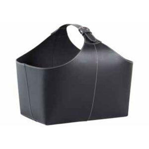 TermaTech brændekurv sort læder