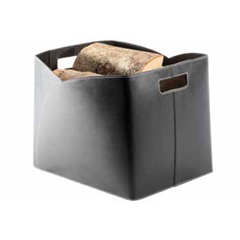 Image of   TermaTech brændekurv sort genbrugs-læder