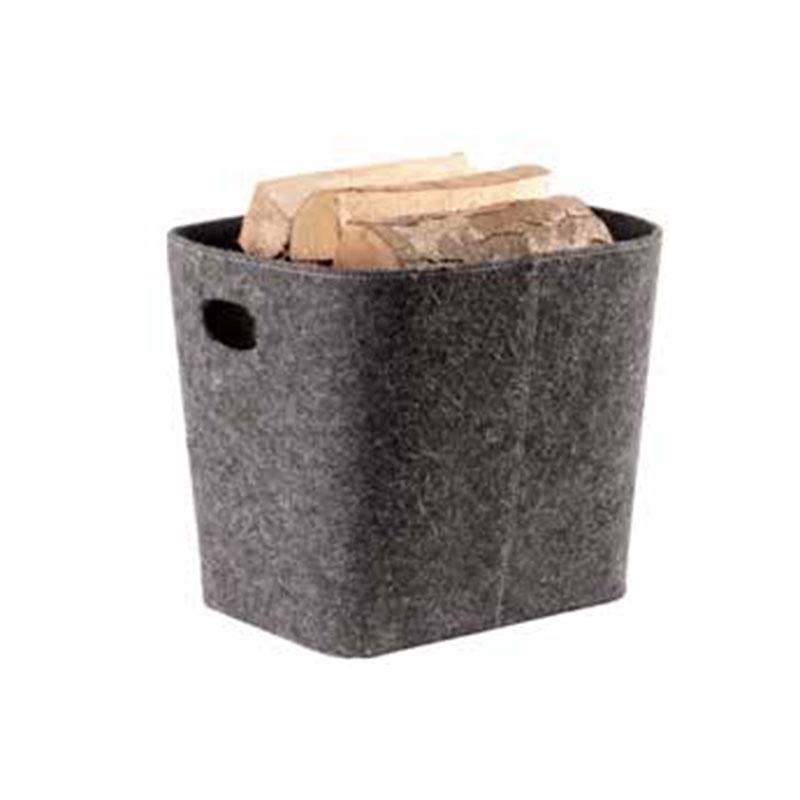 Image of   TermaTech brændekurv i grå filt