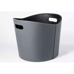 TermaTech brændekurv imiteret læder grå
