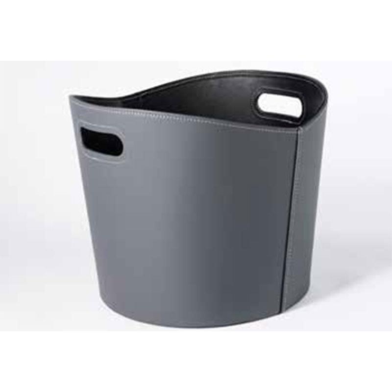 Image of   TermaTech brændekurv rund imiteret læder