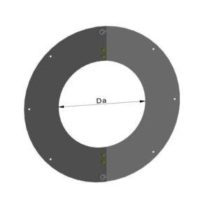 Loftkrave 2-delt dia. 580mm, bred kant