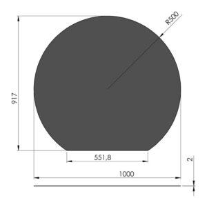 Gulvplade cirkel 1000x917