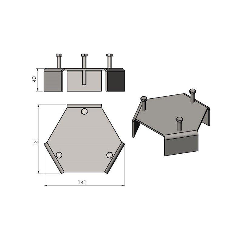 Image of   Afstandsholder til fedtstensgajol TT3S/TT3HS/TT10S/TT10HS/TT40S