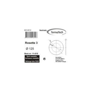 Rosette 30mm kant