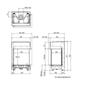 MatriX450x500II - måltegning