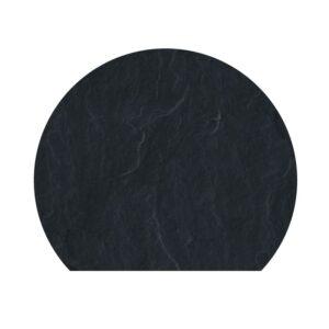 Polysan skifergulvplade afskåret cirkel sort