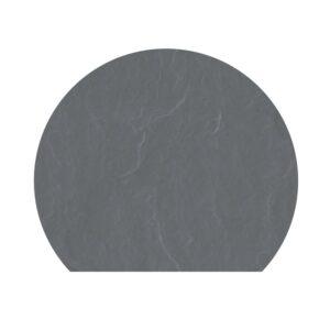 Polysan skifergulvplade afskåret cirkel grå