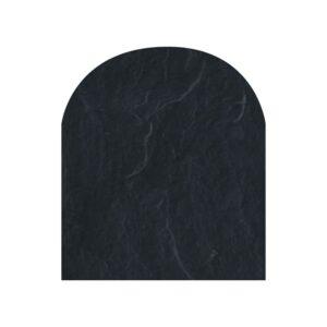 Polysan skifergulvplade halvcirkel sort 100x120 cm