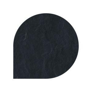 Polysan skifergulvplade dråbe sort 110x110 cm
