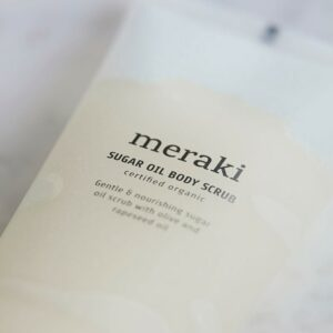 Meraki Body Scrub – Sukker & Olie