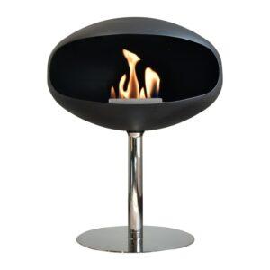 Cocoon Fires Pedestal Rustfri Sort